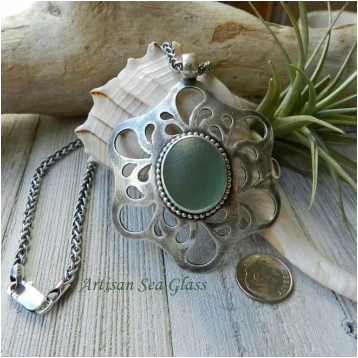 Artisan Sea Glass handcrafted fine jewelry with unique designs by
